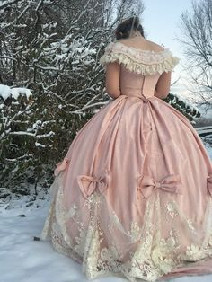 The Sewing Goatherd: The 1865 Pink and Lace Ball Gown - Finished!
