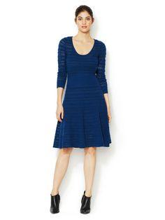 Assunta Wool Pointelle A-Line Dress