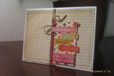 I like the combination of different words to describe Mom on this Mother's Day card =)