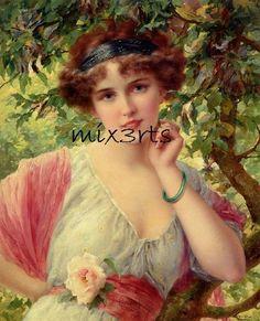 Aplique  Importado -  Vintage Lady  - Mix3Arts