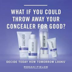 Do you want to break up with your make-up? Stop trying to cover your face and try Unblemish!