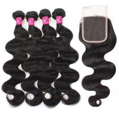 Indian Hair Weave Body Wave Remy Human Hair Weave 4 Bundles With 4X4 Lace Closure Best Human Hair Extensions For Black Women #hairbundles #besthairextensions
