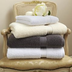 Our Harmony towels are made by a unique process whereby the individual yarns remain untwisted during the spinning process. This provides a lovely lightweight towel that is supersoft, absorbent and quick to dry. Cotton Towels, Hand Towels, Cosy Winter, Bathroom Essentials, Coton Biologique, Stay Cool, Towel Set, Summer Sale, Washing Clothes