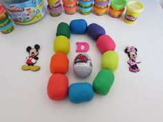 Letter D - learn ABC alphabet with toys and Play Doh Kinder surprise eggs