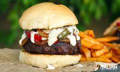 Cheesy Philly Cheesesteak Gourmet Burger