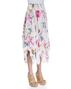 Fly+Away+Floral+Handkerchief+Skirt+by+Free+People+at+Neiman+Marcus.