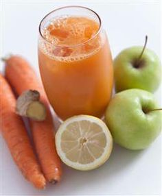 Lemon Ginger Zinger Juice!   This juice is rich in vitamin C, which fights free radicals and keeps tissues strong and healthy. Lemon and ginger are wonderful at eliminating toxins from the body and aiding digestion. http://foodmatters.tv/articles-1/lemon-ginger-zinger-juice-recipe