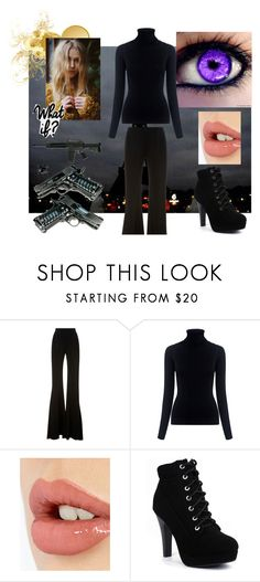 """What if.... I was an assasin"" by angel-oasis ❤ liked on Polyvore featuring Brandon Maxwell, Oliver Peoples and Charlotte Tilbury"