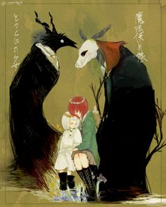 The girl from the other side x the ancient magus bride Manga Anime, Manga Art, Anime Art, Chise Hatori, Character Art, Character Design, Super Anime, The Ancient Magus Bride, Arte Obscura