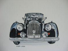Morgan+Car+PRINT+of+ORIGINAL+Watercolor+by+DyansWatercolors,+$18.00