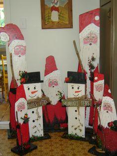 Quelques créations de Père Noël et Bonhomme de neige 2013
