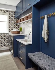 """Outstanding """"laundry room storage diy small"""" information is readily available on. Outstanding """"laundry room storage diy small"""" information is readily available on… Blue Laundry Rooms, Mudroom Laundry Room, Modern Laundry Rooms, Laundry Room Cabinets, Farmhouse Laundry Room, Blue Cabinets, Laundry Room Organization, Small Laundry, Laundry Room Design"""