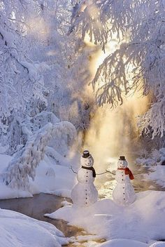 Snowman Couple Standing