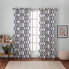 Go for sophisticated style with the Exclusive Home Kochi Curtain Panels. This set of 2 panels has a modern yet classic look that will leave a lasting impression. With an elegant style, these panels hang beautifully and will give any room an instant update. Whether you have them open to let in the light or closed for a little privacy, these curtain panels offer a timeless touch. Curtain rod sold separately.