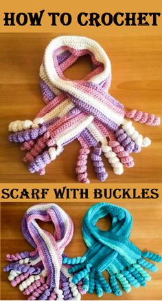 Crochet Scarft with Buckles
