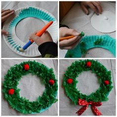 Pin Od Renata K Na Bo E Narodzenie I Mikoaje Inspiration Of Paper Plate Wreath Crafts. Pin Od Renata K Na Bo E Narodzenie I Mikoaje Inspiration Of Paper Plate Wreath Crafts. Pinterest Christmas Crafts, Preschool Christmas Crafts, Christmas Decorations For Kids, Christmas Activities, Holiday Crafts, Christmas Ideas, Paper Plate Crafts For Kids, Crafts For Kids To Make, Noel Christmas