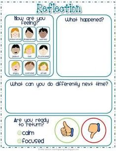 EMOTIONAL REGULATION: School Counseling - Counseling - teachers - Directions and printables to create a Take A Break station which encourages children to manage and regulate their own emotions and behaviors. Classroom Behavior Management, Behaviour Management, Behavior Plans, Behavior Interventions, Behaviour Chart, Social Emotional Learning, Social Skills, Emotional Support Classroom, Positive Behavior Support
