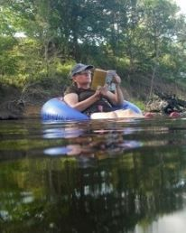 Robyn Bowles - The best way to keep cool on a SEQ summer day - relaxing on the Mary River at Kenilworth.