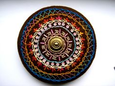 Mandala - black, blue, orange, ella's craft creations
