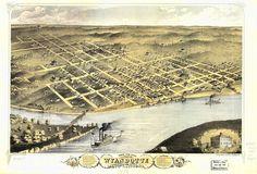 1886 map of Wyandotte County, Kansas