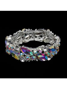 High quality crystal rhinestone marquise vine stretch bracelet from Showstopper Competition Jewelry. Add some personality and glam to the stage with this beautiful bikini competition bracelet! Perfect for IFBB, NPC, WNBF, OPA, WBFF and other bikini bodybu
