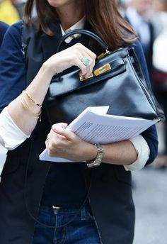 Navy Kelly and gold bracelets, Keep It Chic
