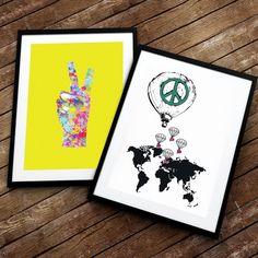 To av våre favorittplakater! Peace Fred og kjærlighet får vi aldri nok av. Av flinke @doltinterior og @2019.no