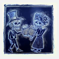 Cervezas De Los Muertos 22x22. This WILL hang on my wall.