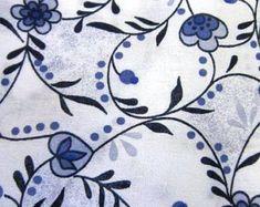 Mooie verschillende delftsblauwe katoenen stoffen door StudioSaar