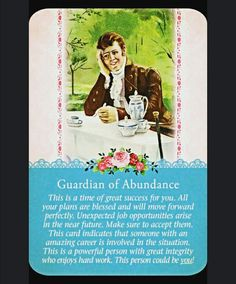 ~Guardian of Abundance card from Guardian Angel Tarot Cards by Doreen Virtue and Radleigh Valentine~