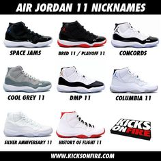 I want the Concords, Cool Grey's, Space Jams, and Bred 11s!!!!! Those Columbia 11s are hot too