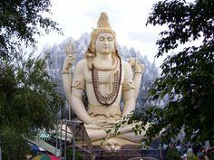 Lord Shiva statue at Sri Shiva Temple, Murugeshpalya, Shiva Linga, Lord Shiva Hd Wallpaper, Bangalore India, India Asia, South India, Shiva Statue, God Pictures, Funny Pictures, Gods And Goddesses