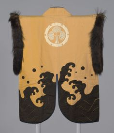 On the back of the coat is the circular crest of the Honda family, an important warrior clan loyal to the ruling Tokugawa family (ruled Japanese samurai jacket. The Art Institute of Chicago.