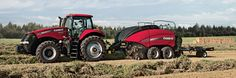 Case IH LB4 Large Square Balers feature a sleek design that sheds debris more easily and is two feet narrower for better visibility and easier transport.