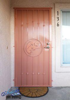 Fish Wrought Iron Security Door - SD0154