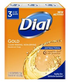 Dial Antibacterial Deodorant Bar Soap, Gold, 4 Ounce, 3 Bars - Just Slashed Dial Bar Soap, Best Body Wash, Antibacterial Soap, Body Soap, Body Lotion, Tea Tree Oil, Nice Body, Face And Body, Deodorant