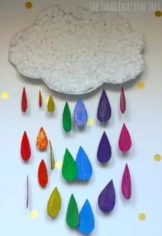 Rainbow cloud craft to go with the book The Story of the Kindness Elves!