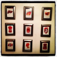 Anatomy flash card bathroom art. :)