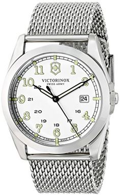 Men's Wrist Watches - Victorinox Unisex 249065 Infantry Stainless Steel Watch *** Want to know more, click on the image.