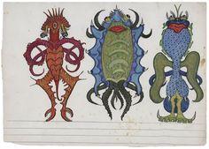 Les monstres de Baqué rappellent ceux de Sendak, à la fois effrayants et drôles. Collection de l'Art brut 11, av. des Bergières, Lausanne. Rens.: www.artbrut.ch
