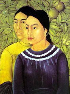 """""""zwei frauen"""" von Frida Kahlo (1907-1954, Mexico)"""
