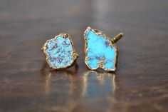 LUX DIVINE /// Turquoise and Gold /// Stackable by luxdivine, $85.00