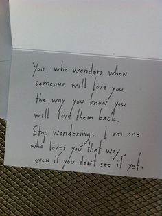 A love note to be left for a stranger (which was for a project by Josh & Jenny Solar thehappyfamilymovement.com/blog)