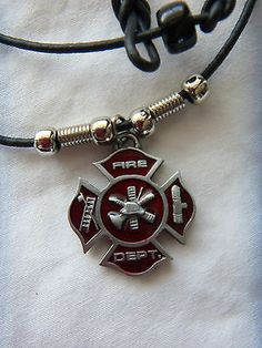 Corinnamaria 925 sterling silver firefighter maltese cross pendant firefighter maltese cross fire department pendant necklace aloadofball Gallery