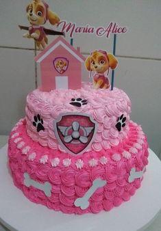 Girls Paw Patrol Cake, Bolo Do Paw Patrol, Skye Paw Patrol Cake, Girl Paw Patrol Party, Torta Paw Patrol, Paw Patrol Birthday Girl, Paw Patrol Cupcakes, Birthday Cake Girls, 3rd Birthday
