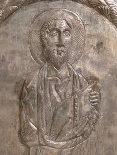 Plaque with Saint Paul 550–600 Byzantine Constantine The Great, Ottoman Turks, Byzantine Art, Roman Empire, Middle Ages, Embroidery, Antiques, Antiquities, Antique