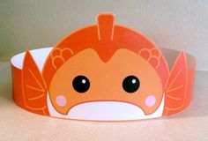 Create your own Goldfish Crown! Print, cut & glue your crown together & adjust to fit anyones head!  • A .pdf file available for instant download