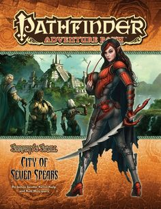 Pathfinder Adventure Path #39: The City of Seven Spears (Serpent's Skull 3 of 6) (PFRPG) | Book cover and interior art for Pathfinder Roleplaying Game - PFRPG, 3rd Edition, 3E, 3.x, 3.0, 3.5, 3.75, Role Playing Game, RPG, Open Game License, OGL, Paizo Inc. | Create your own roleplaying game books w/ RPG Bard: www.rpgbard.com | Not Trusty Sword art: click artwork for source