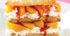 Raspberry Peach Mille Feuille Recipe