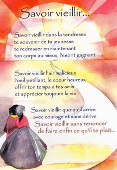 """J'aime beaucoup ce texte et j'ai eu envie de vous le faire partager...""""Savoir vieillir c'est Accepter de vieillir...C'est garder une âme d'enfant, c'est encore s'émerveiller de petits riens, c'est ... Positive And Negative, Positive Attitude, Home Poem, French Expressions, Positive Inspiration, French Quotes, Sweet Words, Positive Affirmations, Quotations"""